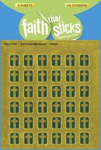 Foil Cross Miniatures (6 Sheets, 216 Stickers) (Stickers Faith That Sticks Series)