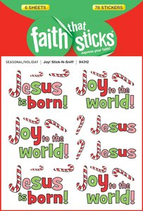 Joy! Stick-N-Sniff (6 Sheets, 78 Stickers) (Stickers Faith That Sticks Series)
