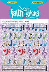 Make a Joyful Noise (6 Sheets) (Stickers Faith That Sticks Series)