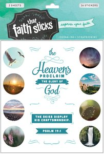 Psalm 19:1 (2 Sheets, 36 Stickers) (Stickers Faith That Sticks Series)