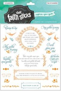Matthew 11:28-30 (2 Sheets, 56 Stickers) (Stickers Faith That Sticks Series)