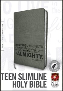 NLT Teen Slimline Bible Psalm 91 Thumb-Indexed (Red Letter Edition)