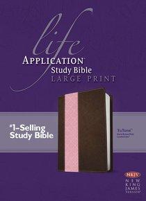 NKJV Life Application Large Print Study Bible Dark Brown/Pink Tutone (Red Letter Edition)