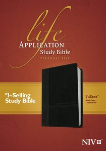 NIV Life Application Study Bible Personal Size Black/Onyx Tutone (Black Letter Edition)