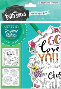 1 Thessalonians 1:4 (4 Sheets, 36 Colorable Stickers) (Stickers Faith That Sticks Series)