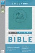 NIV Value Thinline Large Print Bible Blue