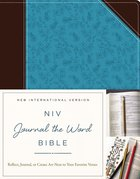NIV Journal the Word Bible Brown/Blue Imitation Leather