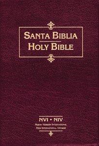 Nvi/Niv Biblia Bilingue Spanish Parallel Bible Burgundy Indexed