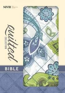 NIV Compact Thinline Bible Quilted Blue Paisley (Red Letter Edition)