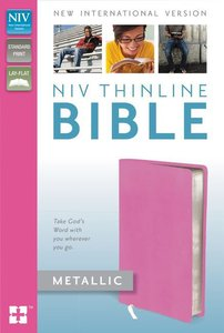 NIV Thinline Metallic Collection Bible (Red Letter Edition)