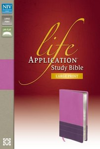 NIV Life Application Large Print Study Bible Indexed Dark Orchid/Plum (Red Letter Edition)
