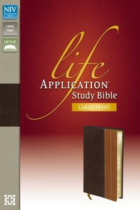 NIV Life Application Large Print Study Bible Indexed Chocolate/Tan) (Red Letter Edition)