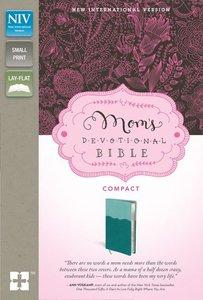 NIV Moms Devotional Compact Bible Italian Duo-Tone Turquoise