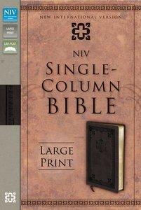 NIV Single-Column Large Print Bible Italian Duo-Tone (Brown)