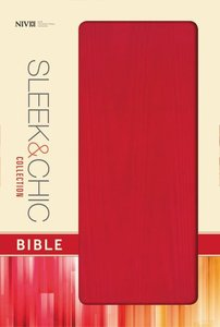 NIV Sleek and Chic Collection Bible Spice Red (Red Letter Edition)