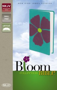 NKJV Bloom Collection Bible Compact Purple (Red Letter Edition)