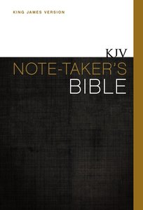 KJV Note-Takers Bible (Red Letter Edition)
