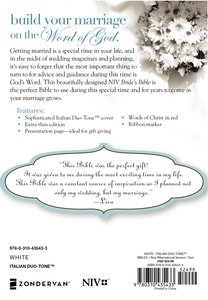 NIV Brides Bible White Duo-Tone (Red Letter Edition)