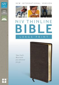 NIV Large Print Thinline Brown (Red Letter Edition)