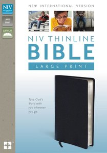 NIV Large Print Thinline Bible Navy (Red Letter Edition)