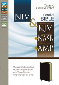 Niv/Kjv/Nasb/Amp Classic Comparative Side-By-Side Bible Burgundy