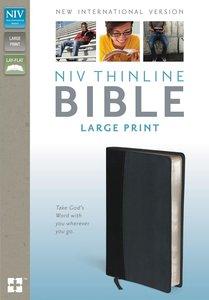 NIV Thinline Bible Large Print Black/Tan (Black Letter Edition)