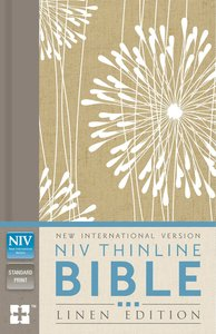 NIV Thinline Bible Linen Edition Abstract Floral Design (Red Letter Edition)