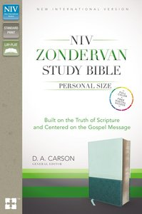 NIV Zondervan Study Personal Size Indexed Green/Blue