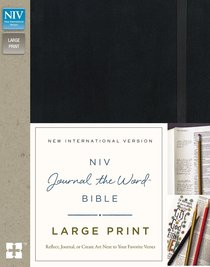 NIV Journal the Word Bible Large Print Black (Black Letter Edition)