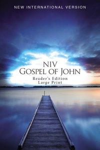 NIV Gospel of John Readers Edition Large Print Blue Pier