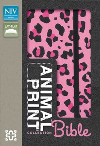 NIV Animal-Print Collection Bible Italian Duo-Tone Elastic Closure Pink/Black (Red Letter Edition)
