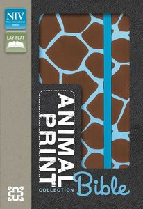 NIV Animal-Print Collection Bible Italian Duo-Tone Elastic Closure Brown (Red Letter Edition)