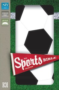 NIV Sports Collection Bible Black/White Soccer (Red Letter Edition)