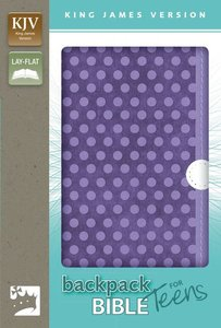 KJV Backpack Bible For Teens Italian Duo-Tone Purple Dots (Red Letter Edition)