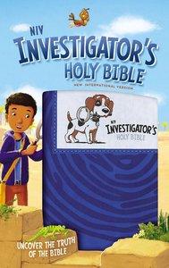 NIV Investigators Holy Bible Blue (Black Letter Edition)