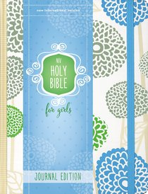 NIV Holy Bible For Girls Journal Edition Mint Elastic Closure