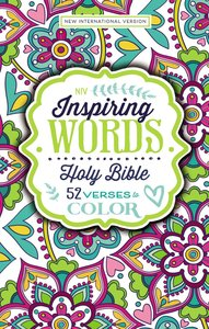 NIV Inspiring Words Bible:52 Verses to Color