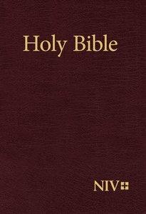NIV Holy Bible Large Print Burgundy