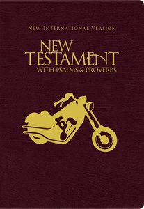 NIV New Testament With Psalms & Proverbs Pocket-Sized Black Motorcycle Paperback