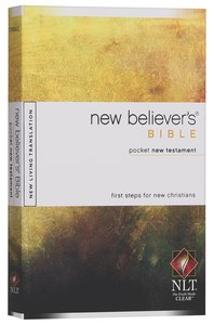 NLT New Believers Pocket New Testament Bible (Black Letter Edition)