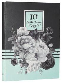 Hardback Botanical Journal: Joy For the Journey, Green/Black/White/Roses