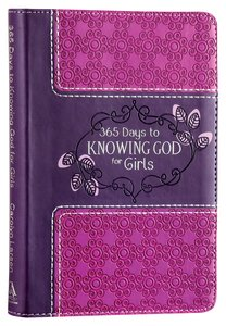 365 Days to Knowing God For Girls (Purple/pink)