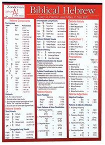 Zondervan Biblical Hebrew Study Guide