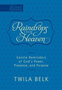 Raindrops From Heaven - Gentle Reminders of Gods Power, Presence and Purpose (365 Daily Devotions Series)