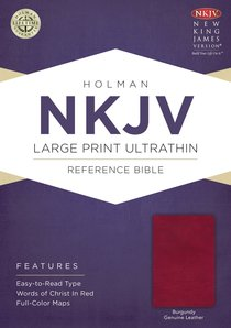 NKJV Large Print Ultrathin Reference Bible Burgundy