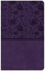 CSB Ultrathin Reference Bible Purple Red Letter Edition