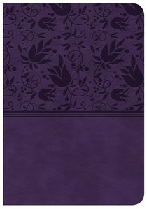 CSB Large Print Compact Reference Bible Purple Red Letter Edition