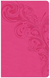 CSB Ultrathin Reference Bible Pink Red Letter Edition