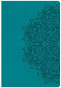 CSB Giant Print Reference Bible Teal Indexed (Red Letter Edition)