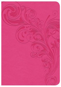 CSB Large Print Compact Reference Bible Pink Indexed Red Letter Edition